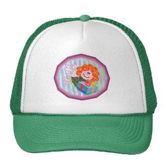 Angel with present cap