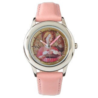 ANGEL WITH ROSES AND ARCHANGEL GABRIEL  Pink Gems Watch