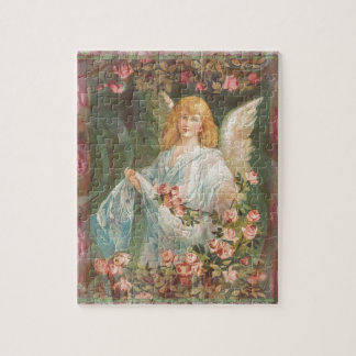 Angel with Roses Jigsaw Puzzle