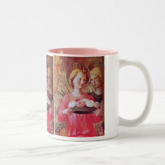 ANGEL WITH ROSES MUGS
