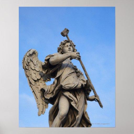 Angel with sponge on Sant Angelo Bridge, the Poster