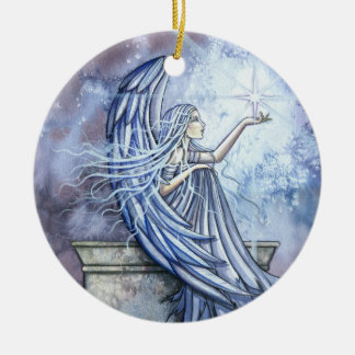 Angel with Star Christmas Ornament