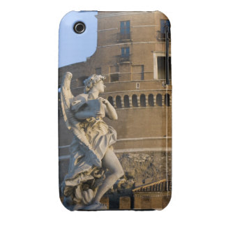 Angel with Superscription in front of the Castel iPhone 3 Case