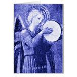 Angel with Tambourine Greeting Card