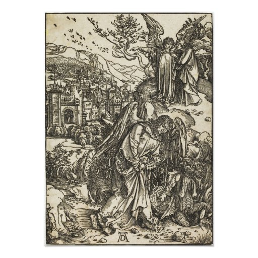Angel with the Key to the Bottomless Pit by Durer Posters