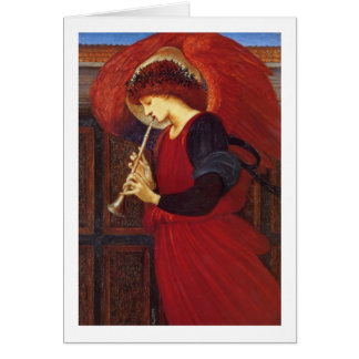 Angel with Trumpet, Burne Jones Card