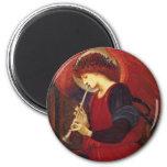 Angel with Trumpet, Burne Jones Fine Art 6 Cm Round Magnet