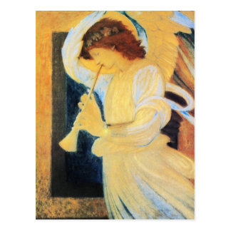 Angel with Trumpet, Burne-Jones Fine Art Postcard