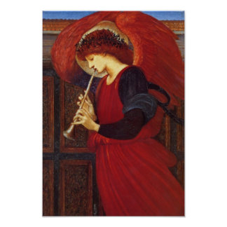 Angel with Trumpet, Burne-Jones Fine Art Poster