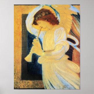 Angel with Trumpet, Burne-Jones Fine Art Poster