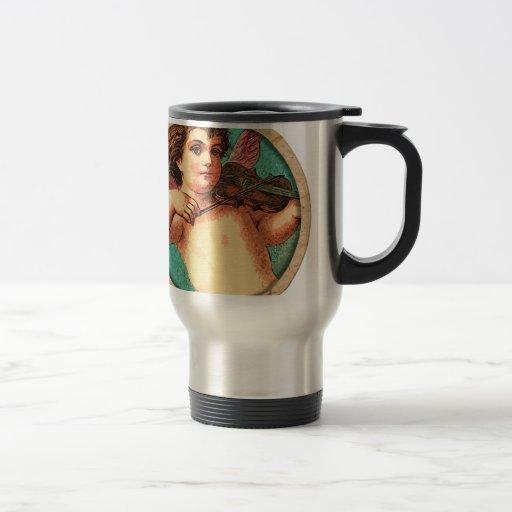 Angel With Violin Coffee Mugs