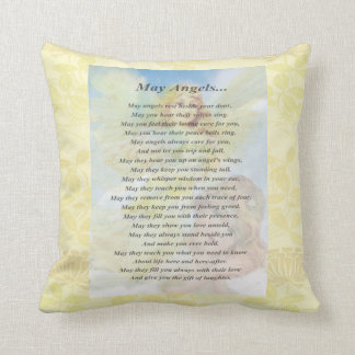 Angel with Wreath Throw Pillow