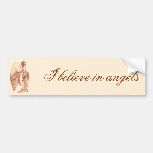 Angel Woman Bumper Stickers