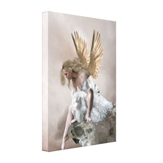 Angel wrapping paper canvas print