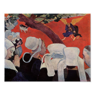 Angel Wrestling with Jacob, Paul Gauguin Poster