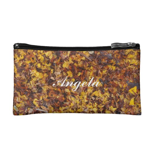 Angela leaf litter cosmetic bag