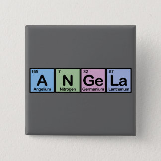 Angela made of Elements 15 Cm Square Badge
