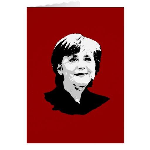 Angela Merkel Greeting Card