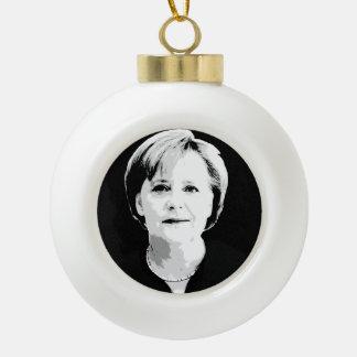 Angela Merkel Ceramic Ball Christmas Ornament