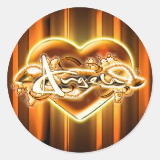 Angela Round Sticker
