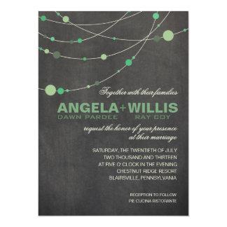 "Angela Stylish Strands | chalkboard mint FELT 5.5"" X 7.5"" Invitation Card"