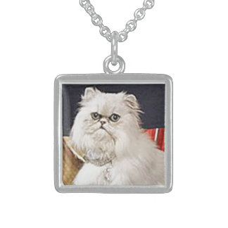 AngelCat Sterling Silver Square Necklace
