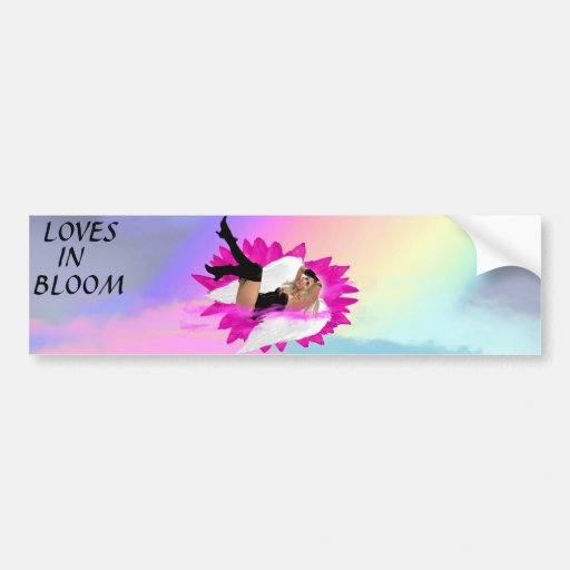 ANGELDREAMZ LOVES-IN-BLOOM BUMBER-STICKER BUMPER STICKERS