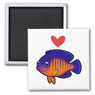 Angelfish 1 Love Square Magnet