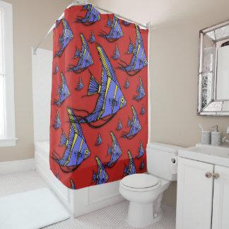 Angelfish #2 shower curtain
