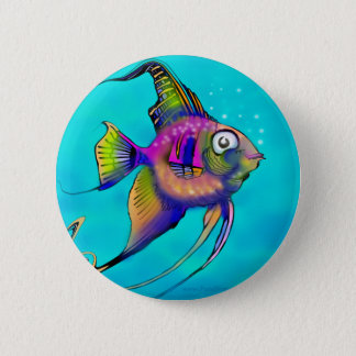 Angelfish 6 Cm Round Badge