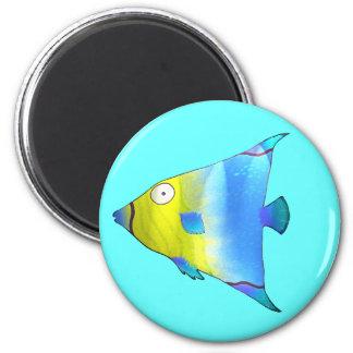 Angelfish 6 Cm Round Magnet