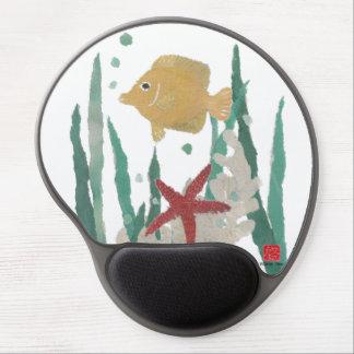 Angelfish and Starfish Tropical Mousepad Gel Mouse Mat