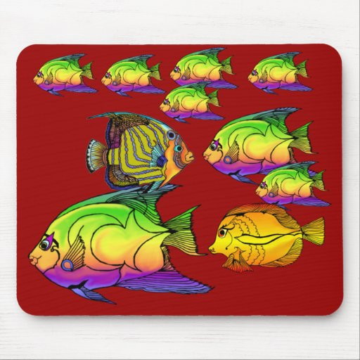 Angelfish Aquaitics Mouse Pad