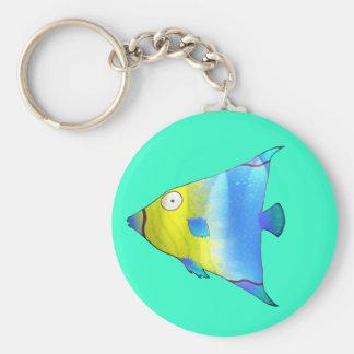 Angelfish Basic Round Button Key Ring