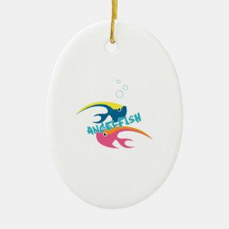 Angelfish Ceramic Oval Decoration