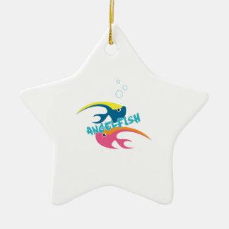 Angelfish Ceramic Star Decoration