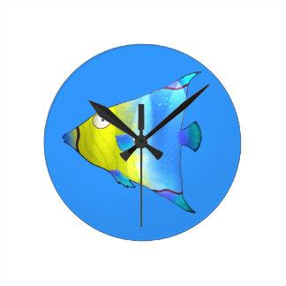 Angelfish Round Clock