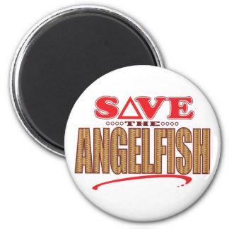 Angelfish Save 6 Cm Round Magnet