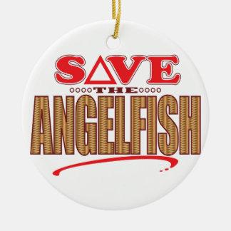 Angelfish Save Round Ceramic Decoration