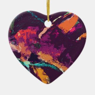 angelfish v2 ceramic heart decoration