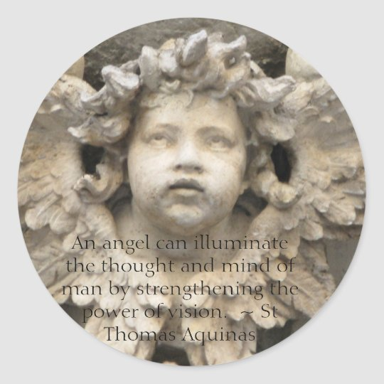 Angelic Angel Quotes - Angel Quotation Classic Round