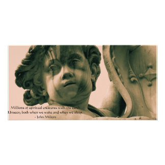 Angelic Angel Quotes -  Angel Quotation Customised Photo Card