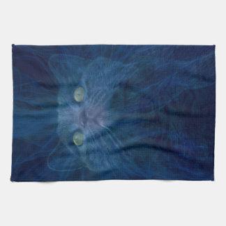 Angelic cat tea towel
