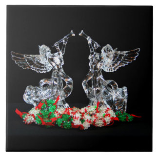Angelic Christmas Large Square Tile