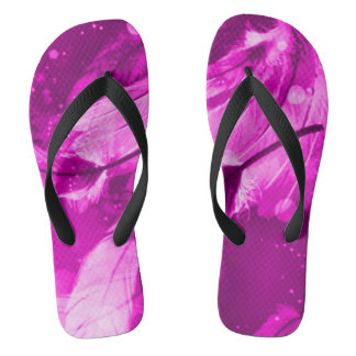 Angelic Dreams Frosted Pink Flip Flops
