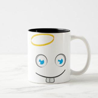 Angelic expression smile tea mug
