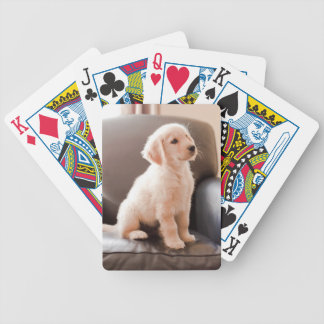 Angelic Golden Retriever Puppy Bicycle Playing Cards