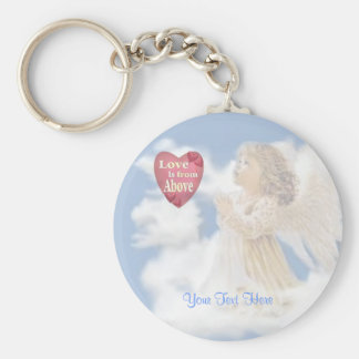 Angelic Love Is From Above Basic Round Button Key Ring