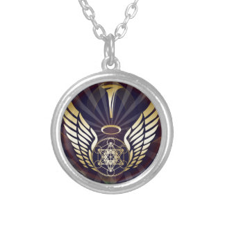 Angelic- Merkaba-Metatron cube Silver Plated Necklace