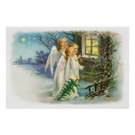 Angelic Night Carollers Poster